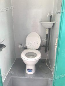 Mẫu nội thất bên trong nhà vệ sinh di động